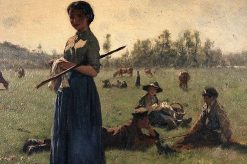 Resting in a Pasture | variste Carpentier | Oil Painting