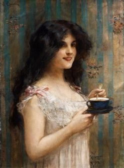Girl with a Cup | Léon-François Comerre | Oil Painting