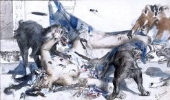 Jezabel Devoured by Dogs | Léon-François Comerre | Oil Painting
