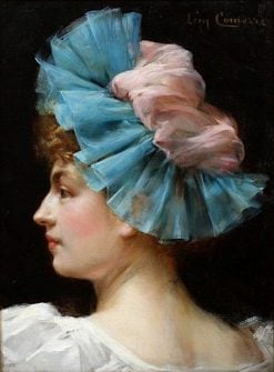 Portrait of a Woman with Lace Headdress | Léon-François Comerre | Oil Painting
