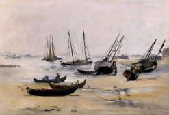 The Beach at Low Tide | douard Manet | Oil Painting