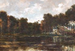 Small Landscape with a View of a Baptisterium | Hippolyte-Camille Delpy | Oil Painting
