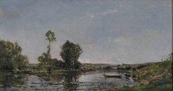 River Landscape | Hippolyte-Camille Delpy | Oil Painting
