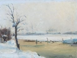 Snowy River Landscape | Hippolyte-Camille Delpy | Oil Painting