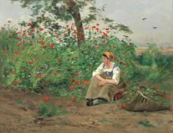 Among the Poppies | Hippolyte-Camille Delpy | Oil Painting