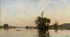 On the Seine | Hippolyte-Camille Delpy | Oil Painting