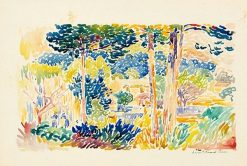 Landscape in Southern France | Henri-Edmond Cross | Oil Painting
