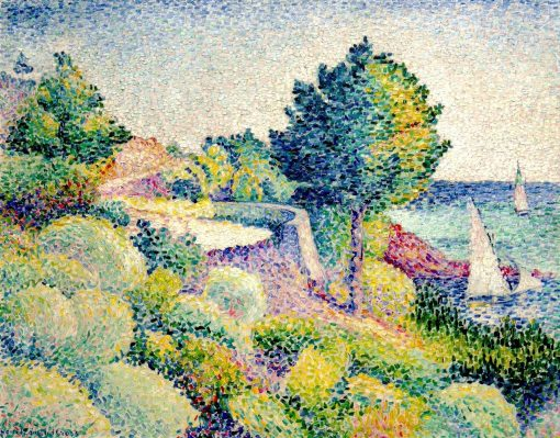 Road from Lavandou to Saint-Clair   Henri-Edmond Cross   Oil Painting