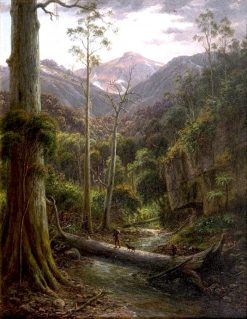 Creek at the Foot of Mount Kosciuszko | Eugene Von Guerard | Oil Painting