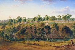 The Farm of Mr Perry on the Yarra | Eugene Von Guerard | Oil Painting