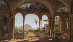 View of Palermo from Santa Maria di Gesu | Eugene Von Guerard | Oil Painting