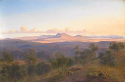 A View from Daylesford towards the Pyrenees | Eugene Von Guerard | Oil Painting