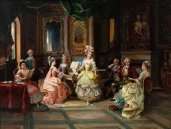 Music in the Parlor | Cesare Augusto Detti | Oil Painting
