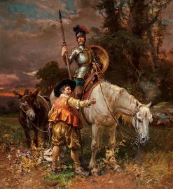 Don Quixote and Sancho Panza | Cesare Augusto Detti | Oil Painting