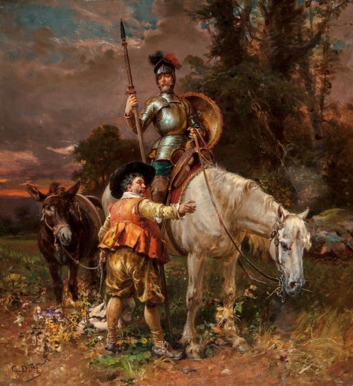 Don Quixote and Sancho Panza | Cesare Augusto Detti | Oil Painting