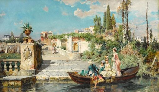 The Arrival | Cesare Augusto Detti | Oil Painting