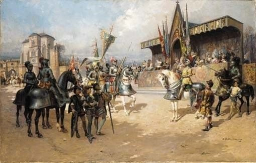 Before the Joust | Cesare Augusto Detti | Oil Painting