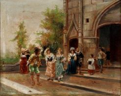 Church Steps | Cesare Augusto Detti | Oil Painting