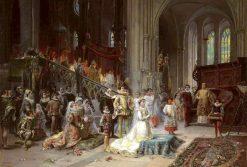A Coronation | Cesare Augusto Detti | Oil Painting