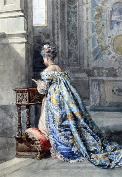 Lady at Prayer | Cesare Augusto Detti | Oil Painting