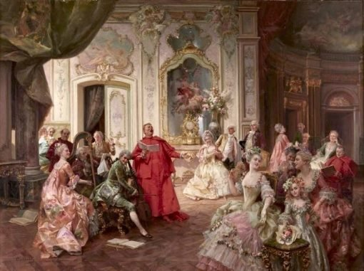 A Delightful Performance | Cesare Augusto Detti | Oil Painting