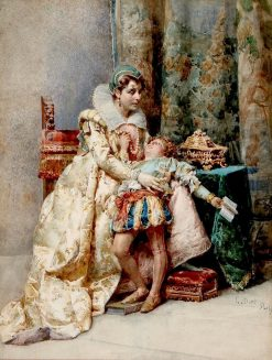 The Reluctant Scholar | Cesare Augusto Detti | Oil Painting