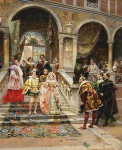 The Marriage of the Prince | Cesare Augusto Detti | Oil Painting