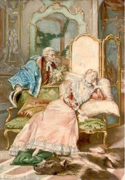 Amorous Suggestions | Cesare Augusto Detti | Oil Painting