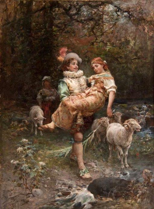 A Fair Burden | Cesare Augusto Detti | Oil Painting