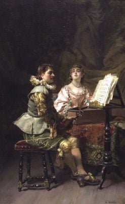 The Duet | Cesare Augusto Detti | Oil Painting