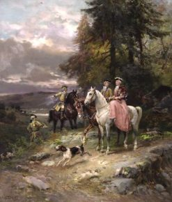 The Hunt | Cesare Augusto Detti | Oil Painting