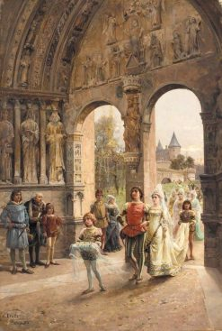 The Wedding Procession | Cesare Augusto Detti | Oil Painting