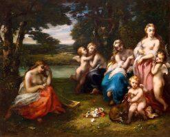 First Temptations | Narcisse Dìaz de la Peña | Oil Painting