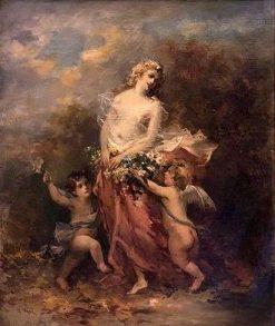 Venus and Cupids in a Verdant Landscape | Narcisse Dìaz de la Peña | Oil Painting