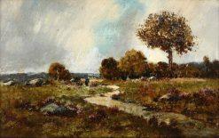 Landscape near Fountainebleau   Narcisse Dìaz de la Peña   Oil Painting