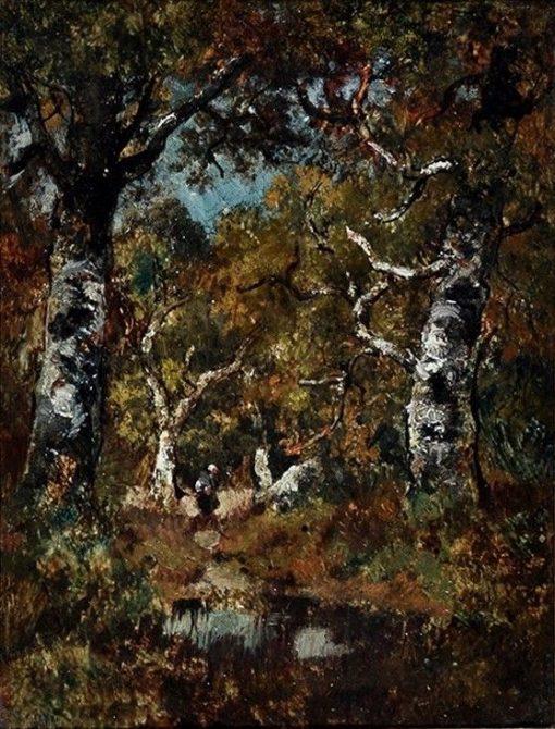 A Woodland Clearing | Narcisse Dìaz de la Peña | Oil Painting