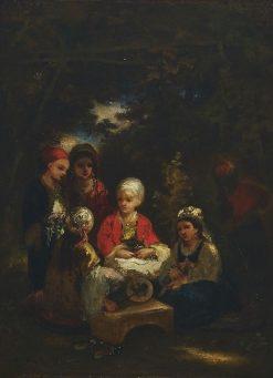 Six Oriental Children in a Forest | Narcisse Dìaz de la Peña | Oil Painting