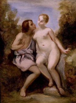 Venus and Adonis | Narcisse Dìaz de la Peña | Oil Painting