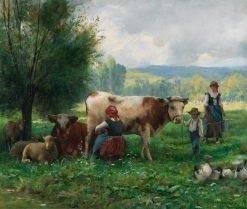 Milking Hour | Julien Dupré | Oil Painting