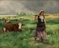Fresh Morning Milk | Julien Dupré | Oil Painting