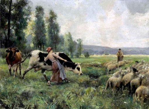 Country Life   Julien Dupré   Oil Painting