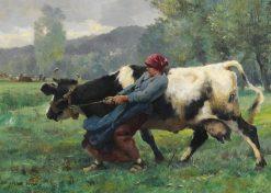 The Stubborn Cow | Julien Dupré | Oil Painting