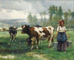 Milkmaid | Julien Dupré | Oil Painting