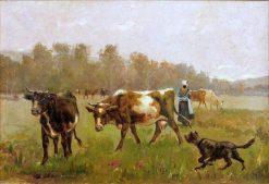 The Herd   Julien Dupré   Oil Painting
