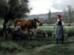 Milking Time | Julien Dupré | Oil Painting