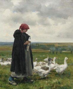 The Goose Girl   Julien Dupré   Oil Painting