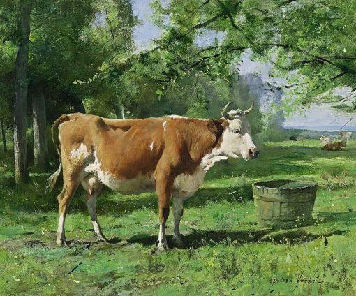 A Cow in a Landscape   Julien Dupré   Oil Painting