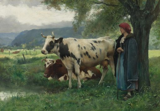 Peasant Woman With Cows | Julien Dupré | Oil Painting