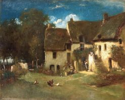 Farmyard at Sunset | Jules Dupré | Oil Painting