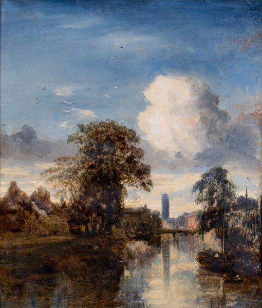 Dutch River Scene | Jules Dupré | Oil Painting